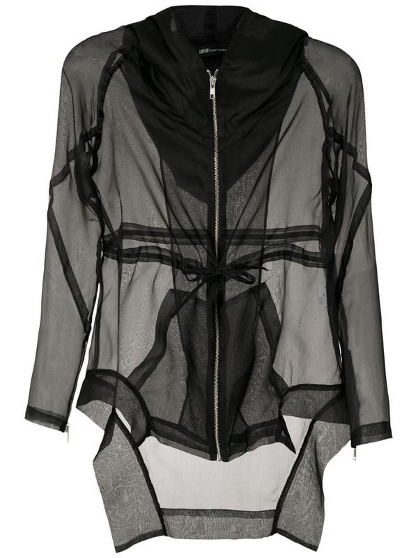 Uma - Raquel Davidowicz silk Asia parka in black