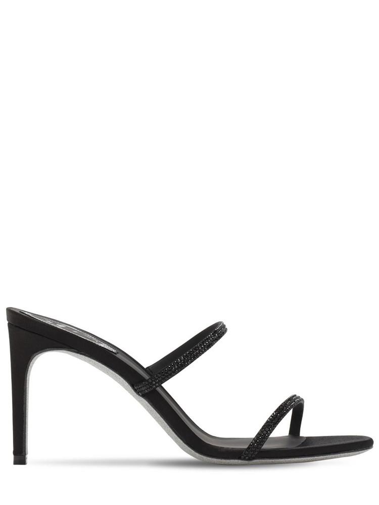 RENÉ CAOVILLA 80mm Embellished Satin Sandals in black
