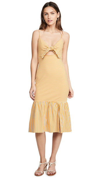 Saylor Doris Dress in mustard