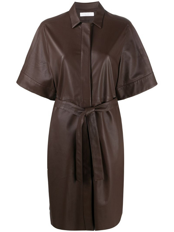 Fabiana Filippi belted shirt dress in brown