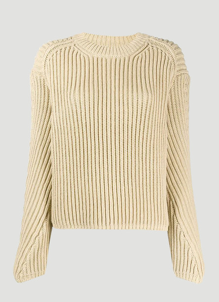 Acne Studios Ribbed-Knit Sweater in Beige size XS