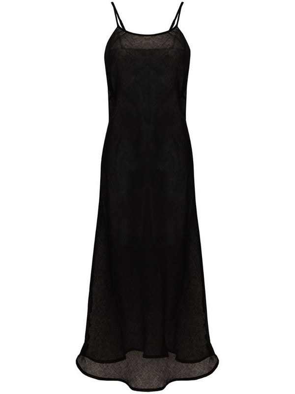 Baserange Dydine linen maxi dress in black