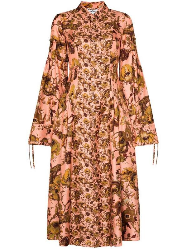 Evi Grintela Love floral-print maxi dress in brown