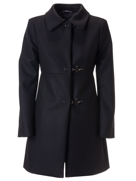 Fay Toggle Lock Classic Collar Coat in black
