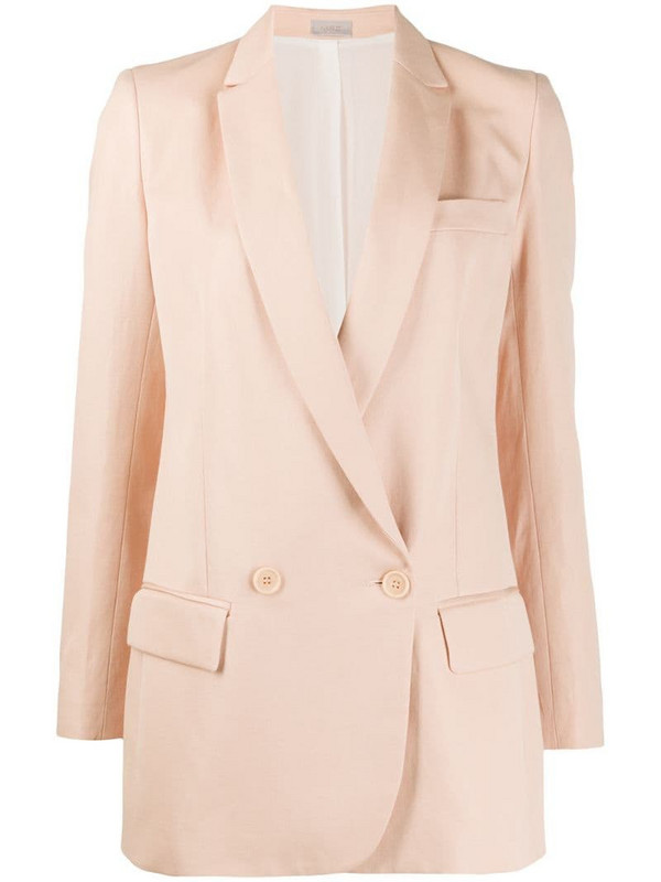 MRZ double breasted blazer in pink