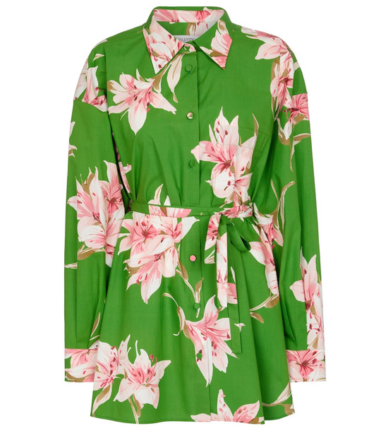 Valentino floral cotton shirt in green
