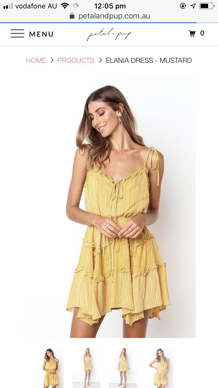 dress petal & pup ruffle mustard summer summer dress
