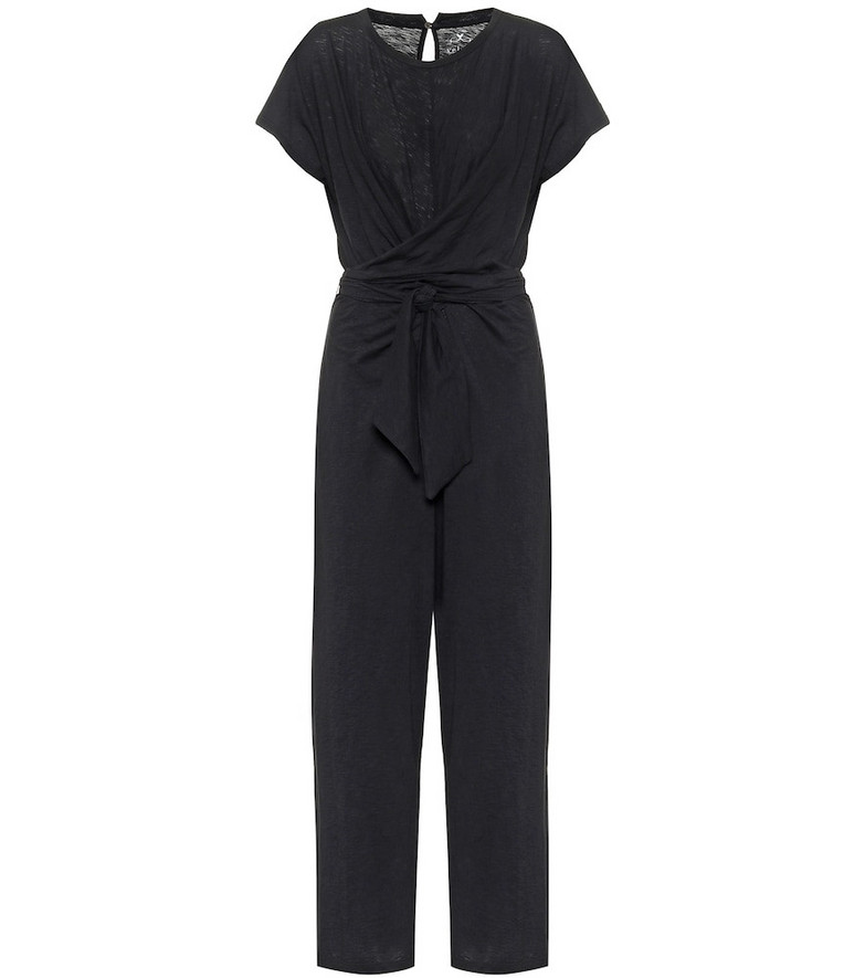 Velvet Mora cotton jumpsuit in black