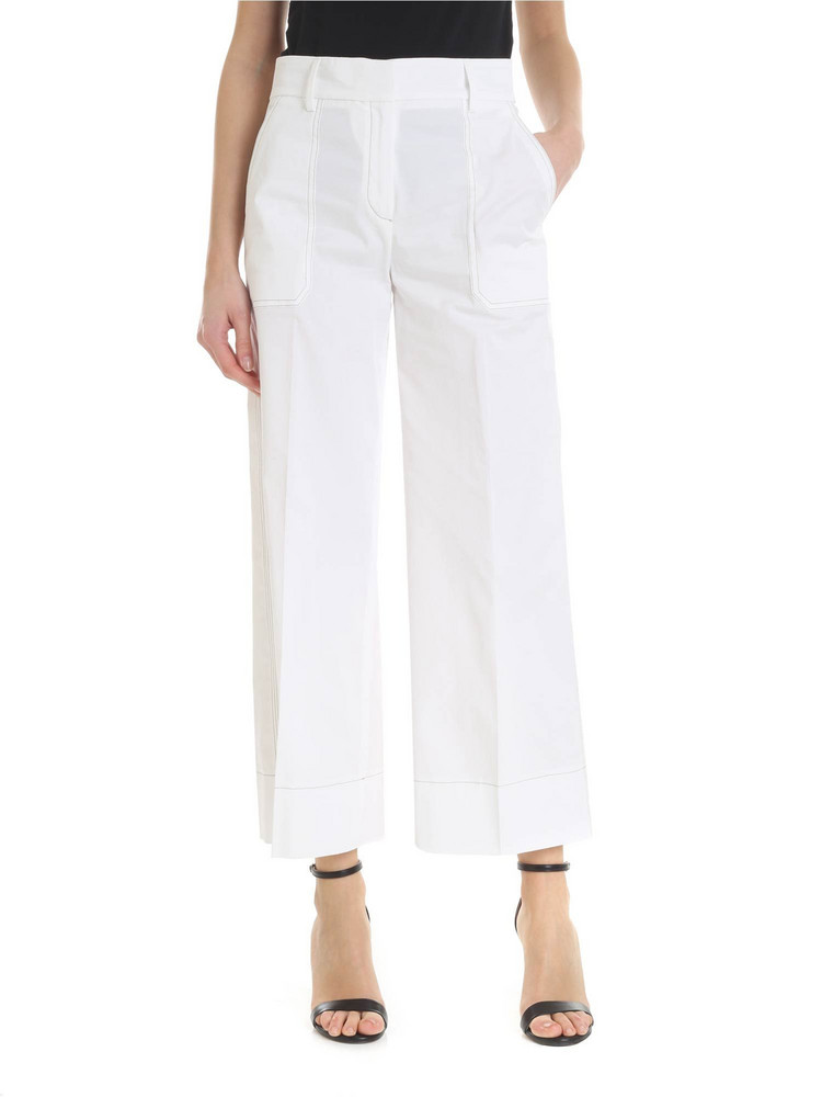 True Royal - Deva Trousers in white