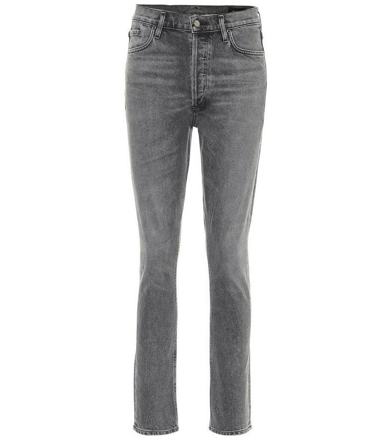 Goldsign The High-Rise slim jeans in grey
