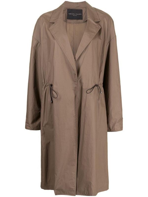 Fabiana Filippi lightweight cotton coat in brown