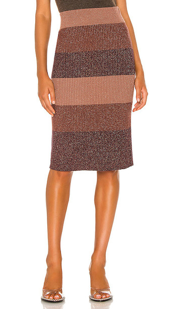 PAIGE Arken Skirt in Brown in multi