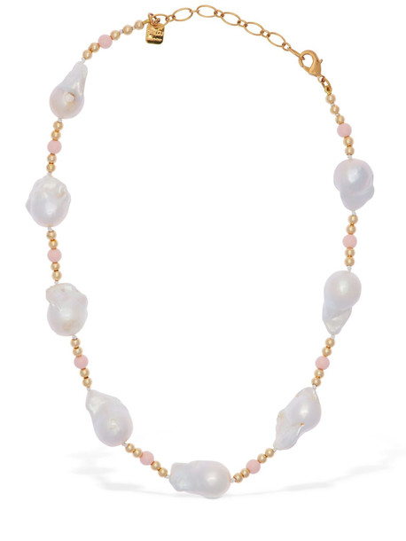 CA & LOU Domitilla Baroque Pearl Short Necklace in gold