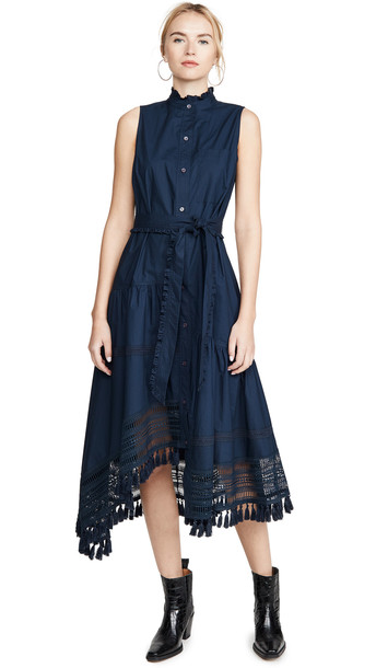 Derek Lam 10 Crosby Nerioa Dip Maxi Dress in midnight