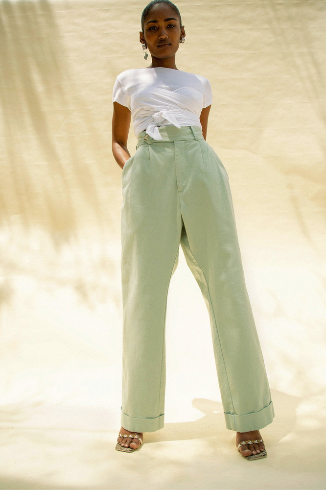 The Line by K Brigitte Pant Baby Green