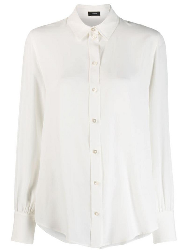 Joseph classic button-down shirt in white