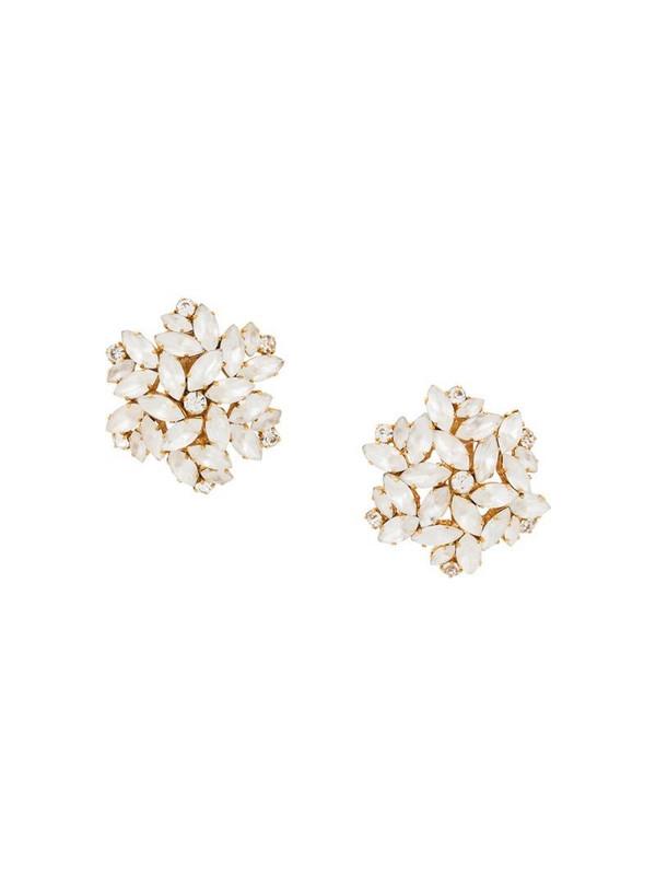 Rewind Vintage Affairs 1990's leaf embellished earrings in white