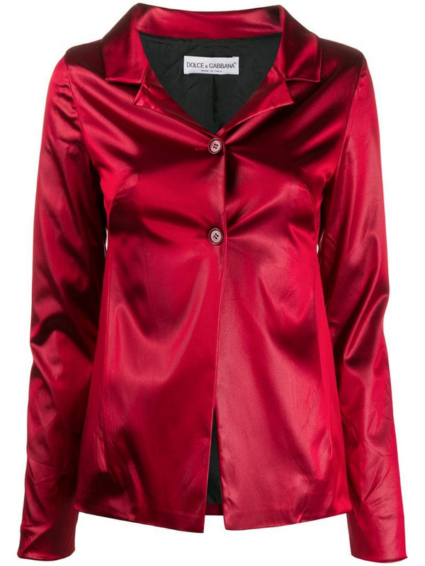 Dolce & Gabbana Pre-Owned 1990s notched collar jacket in red
