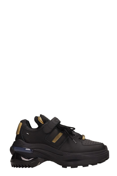 Maison Margiela Retro Fit Black Rubber Sneakers