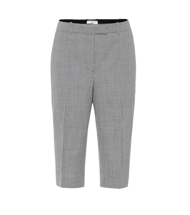 Givenchy Houndstooth wool Bermuda shorts in black