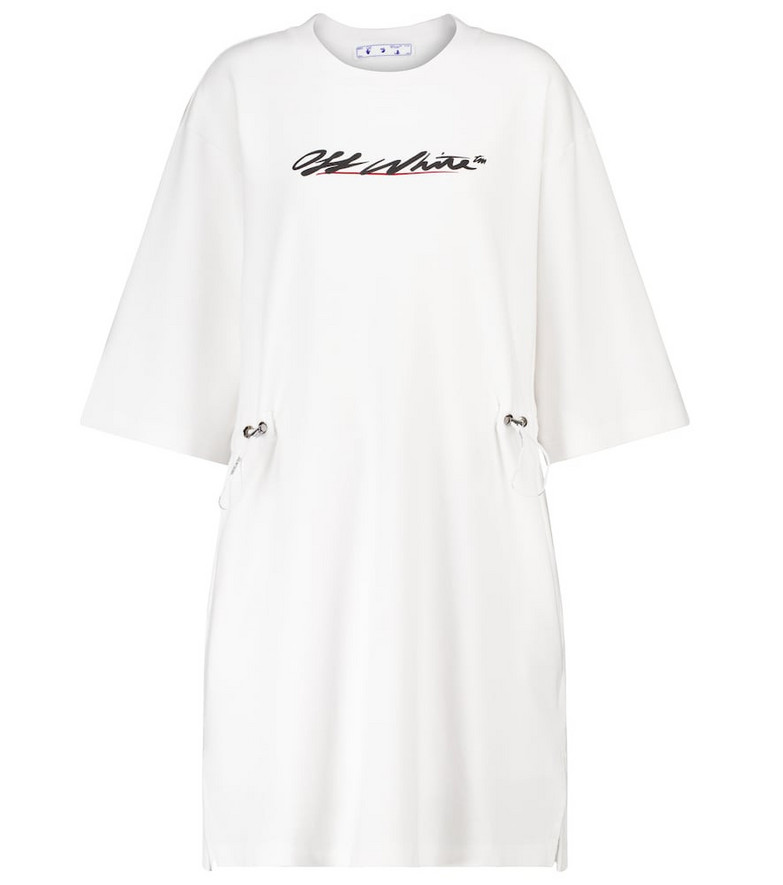 Off-White Cotton-jersey minidress in white