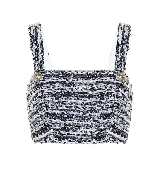 Balmain Tweed crop top