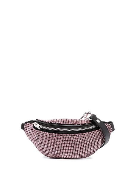 Alexander Wang crystal-embellished belt bag in black