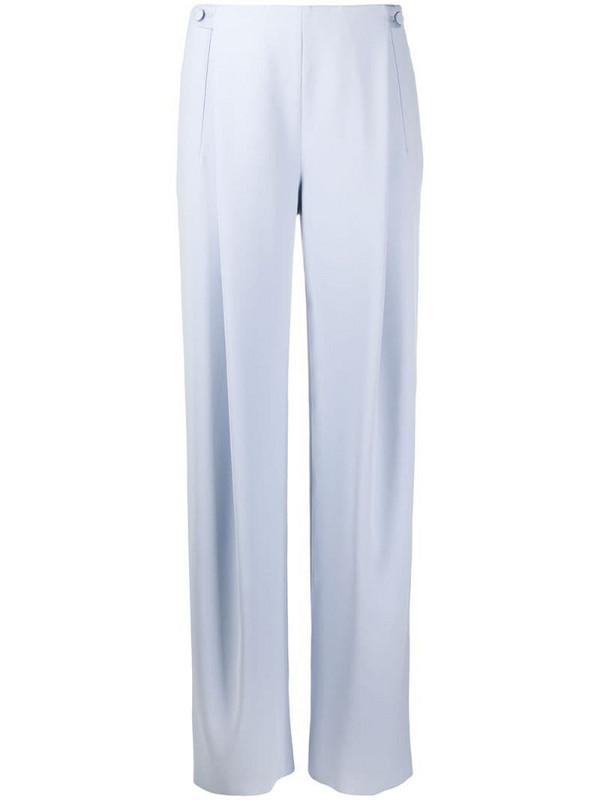 Giorgio Armani high-waisted wide leg trousers in blue