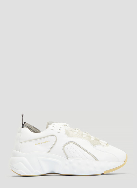 Acne Studios Technical Leather Sneakers in White size EU - 41