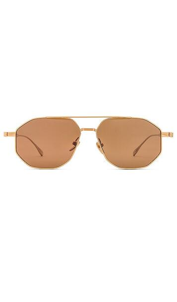 DEVON WINDSOR Cairo Sunglasses in Brown