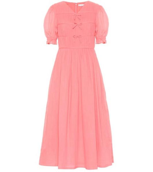 Rejina Pyo Kristen cotton voile midi dress in pink