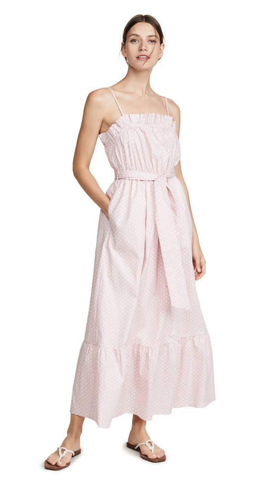 ENGLISH FACTORY Cami Dress With Ties in pink