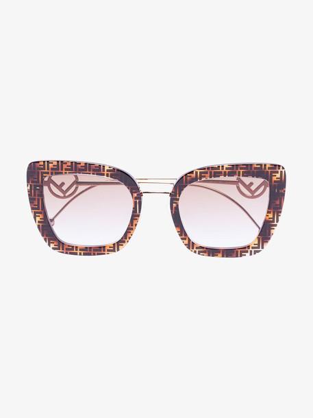 Fendi brown Havana FF sunglasses