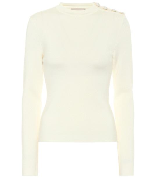 Alexandre Vauthier Merino-wool sweater in white