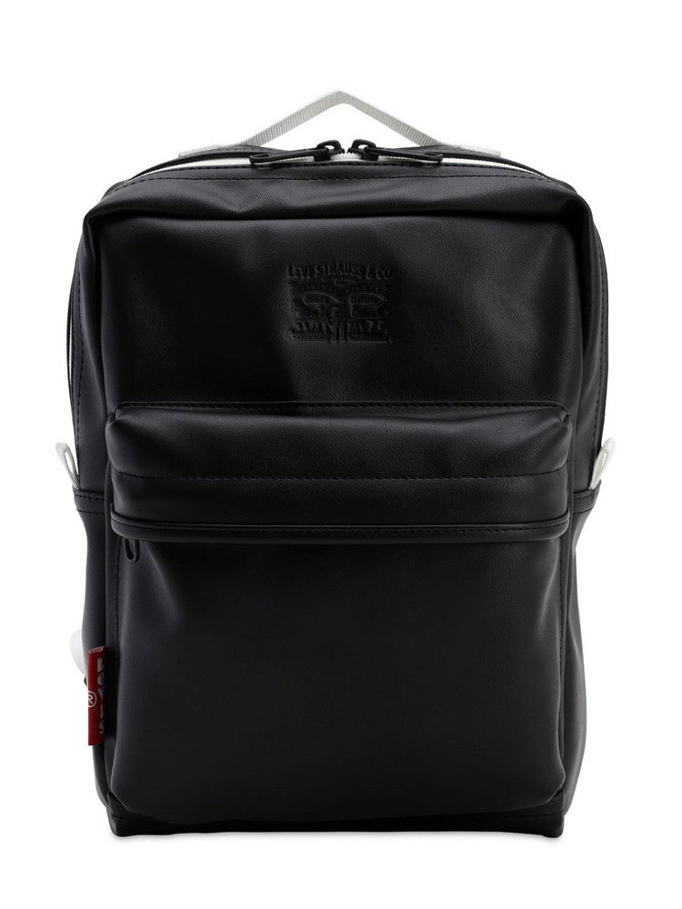 LEVI'S RED TAB The L Pack Baby Faux Leather Backpack in black