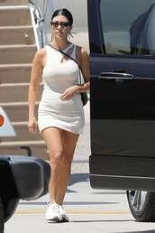 sunglasses,mini dress,sneakers,kourtney kardashian,kardashians