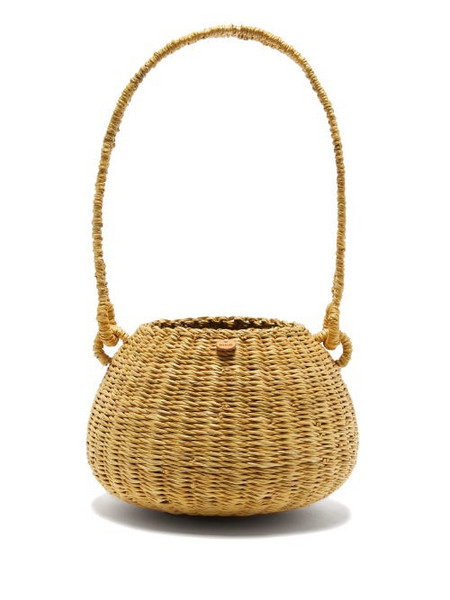 Muuñ Muuñ - Oriane Straw Basket Bag - Womens - Black Multi