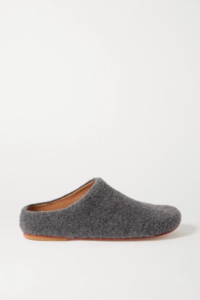 Lauren Manoogian - Mono Alpaca-blend Slippers - Dark gray