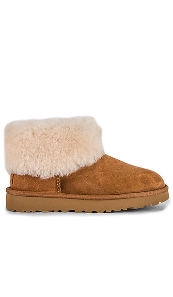 UGG Classic Mini Fluff Boot in Brown