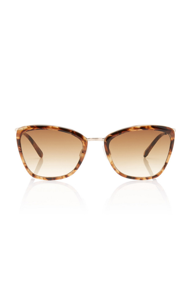 Garrett Leight Louella Tortoiseshell Cat-Eye Sunglasses in brown