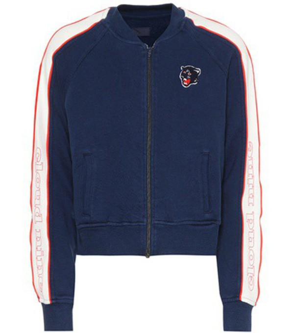 Mother The Runner cotton jacket in blue