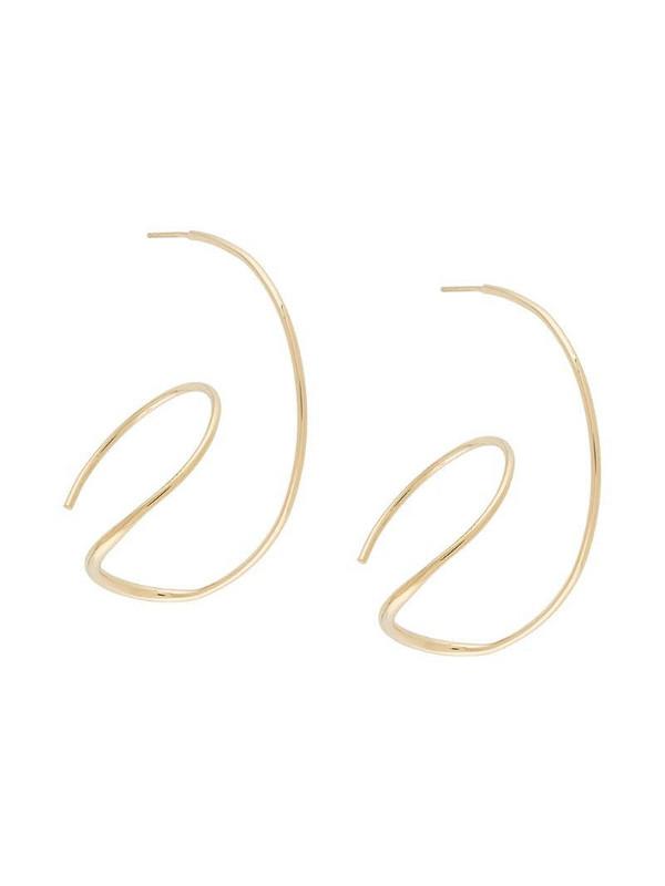 BAR JEWELLERY Rivera hoop earrings in gold