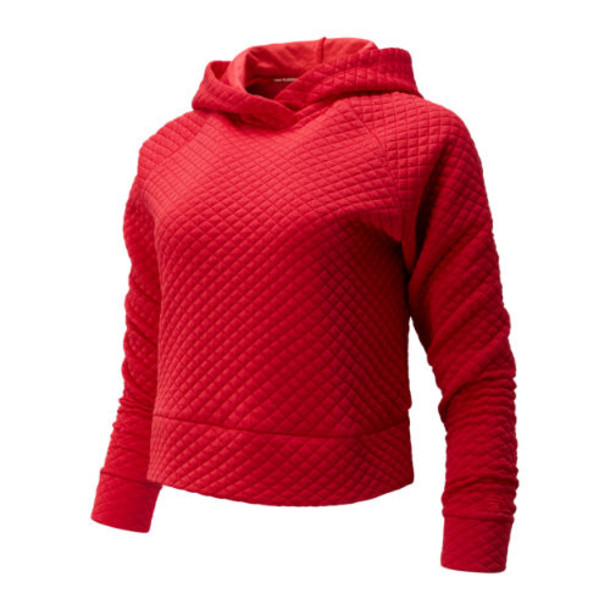 New Balance 93119 Women's NB Heat Loft Hoodie - Red (WT93119REP)