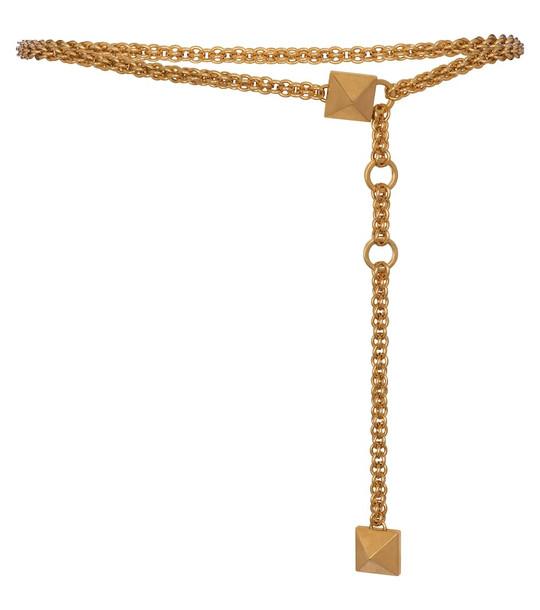 Valentino Garavani Roman Stud chain belt in gold