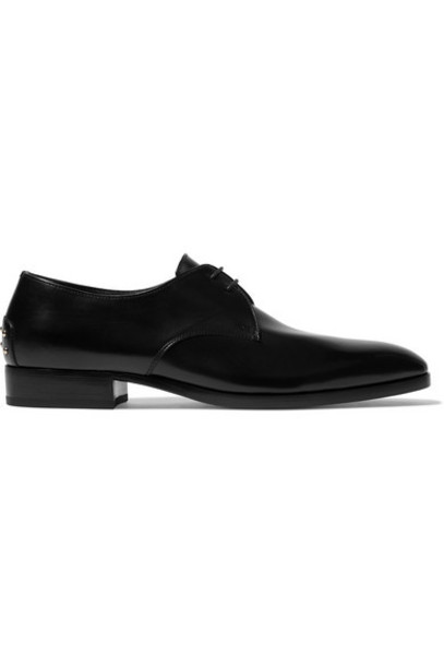 SAINT LAURENT - Wyatt Studded Leather Brogues - Black