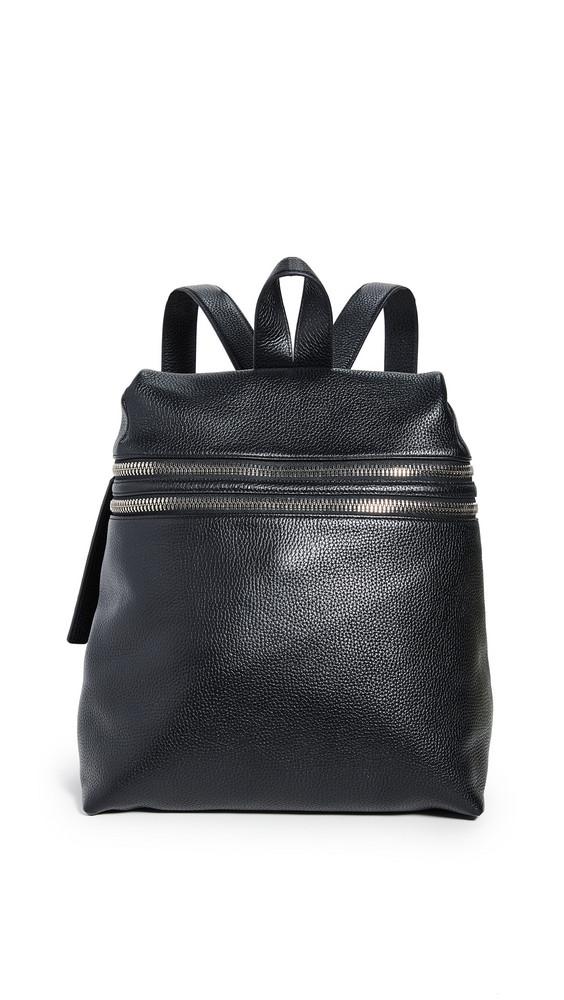 KARA Double Zipper Backpack in black