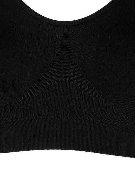 Wacoal fitted crop bra in black