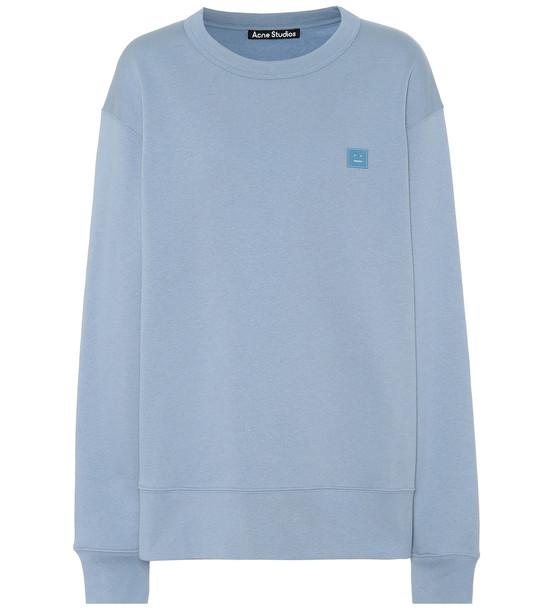 Acne Studios Fairview Face cotton-jersey sweatshirt in blue