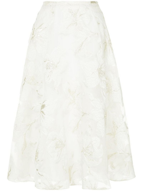 Bambah Dahlia midi skirt in white