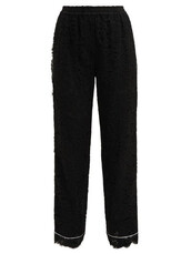 lace,floral,black,pants